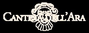 Logo in chiaro con scritta di Cantina dell'Ara